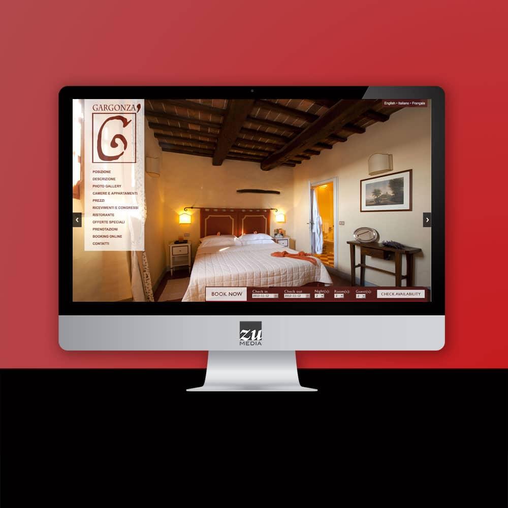 GARGONZA progetto grafico sito web Firenze