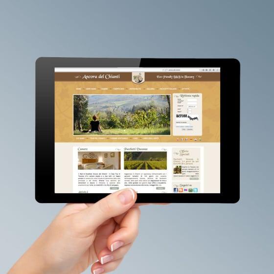Progetto grafico sito web Firenze