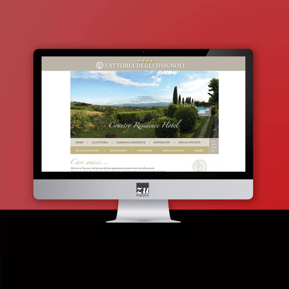 Realizzazione sito internet Fattoria degli Usignoli
