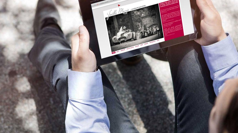 Progetto grafico sito JOELLE MARIE EVENTS