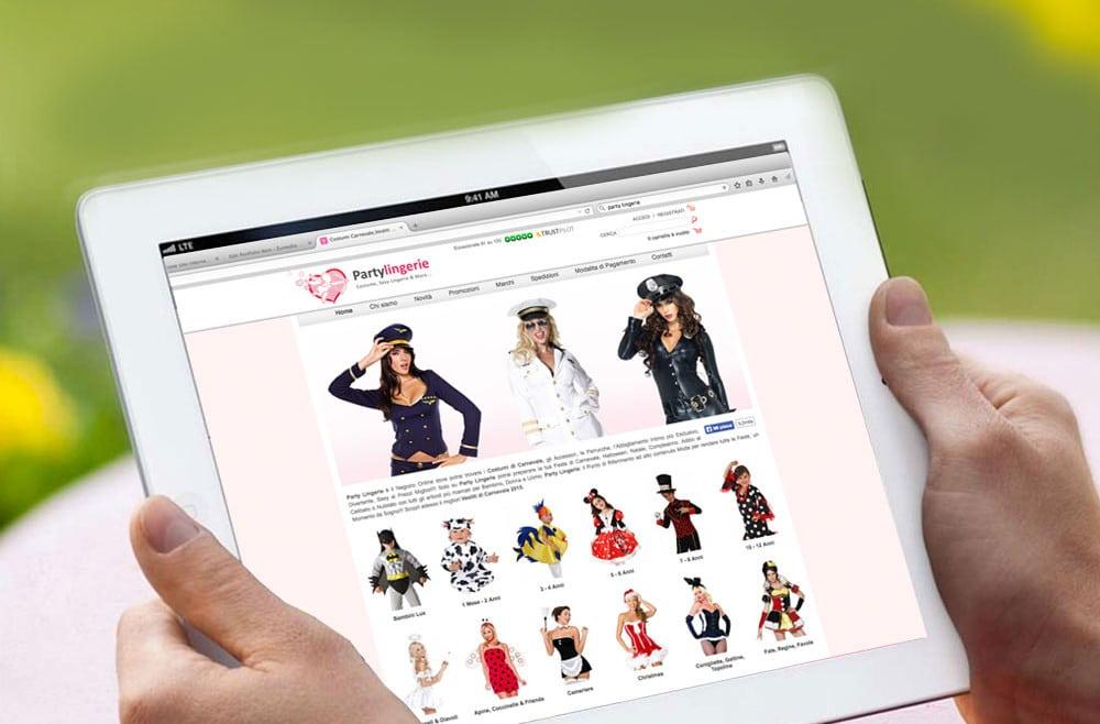 Realizzazione progetto grafico sito e-commerce Firenze