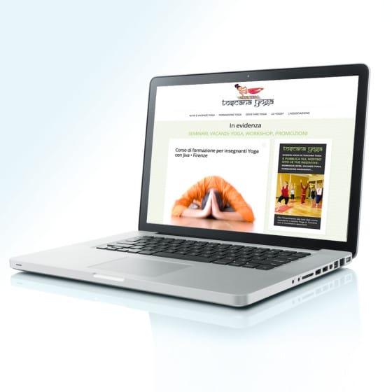 Realizzazione portale Toscana Yoga