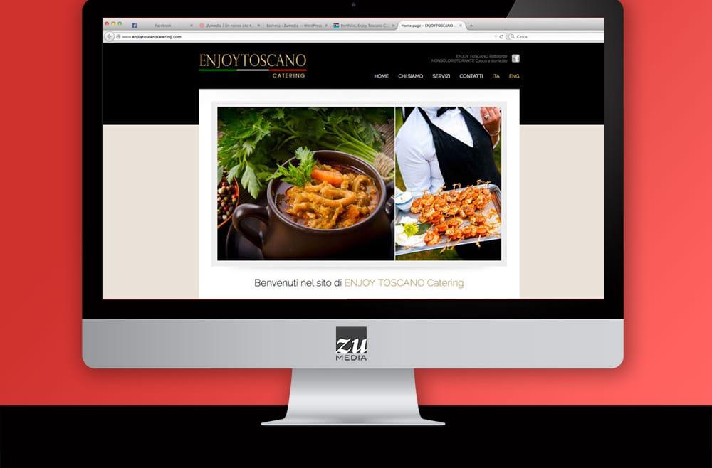 Realizzazione sito web ENJOY TOSCANA CATERING Castelfranco di Sopra