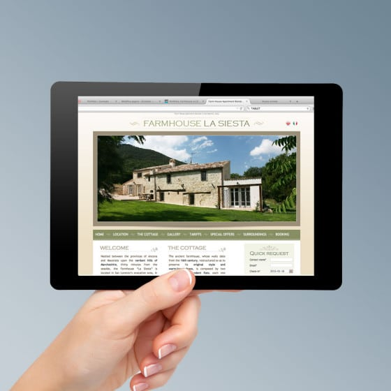 Realizzazione sito web FARMHOUSE LA SIESTA