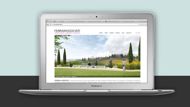 Realizzazione sito web FERRARA ASSOCIATRI Studio di Architettura e Urbanistica a Firenze