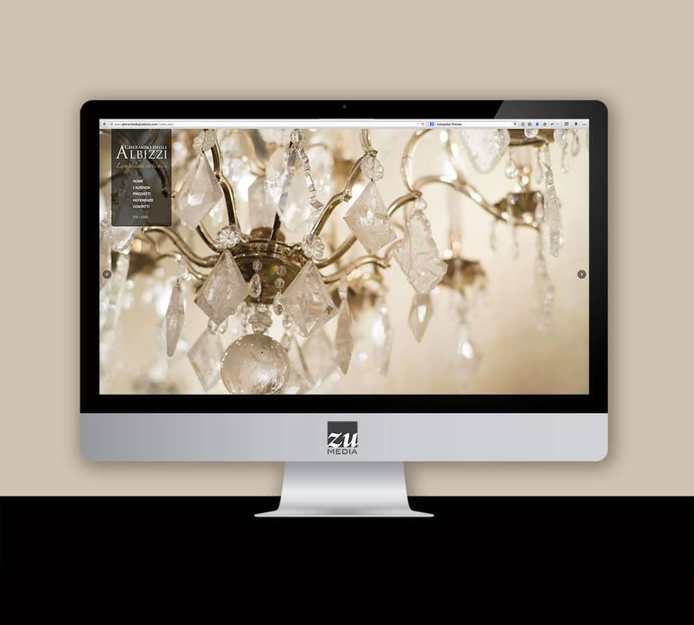 Realizzazione sito web Gherardo Degli Albizzi Lampadari Artistici Firenze