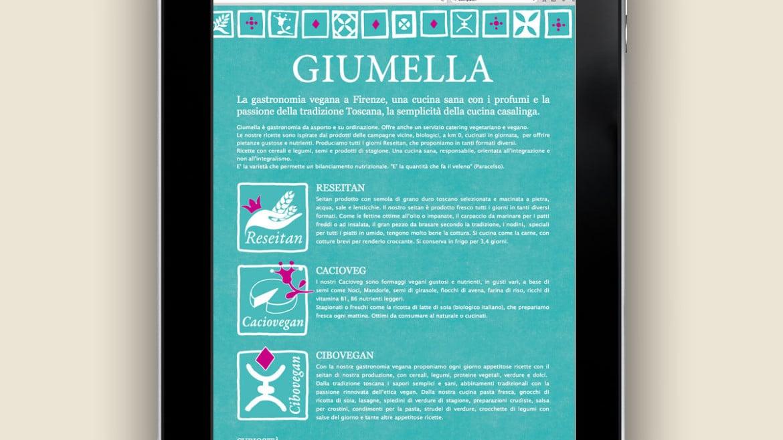realizzazione sito web GIUMELLA gastronomia vegana