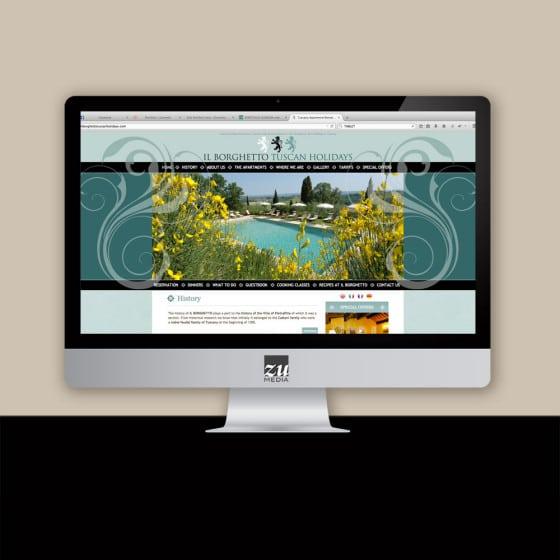 Realizzazione sito web Il Borghetto tuscan holidays