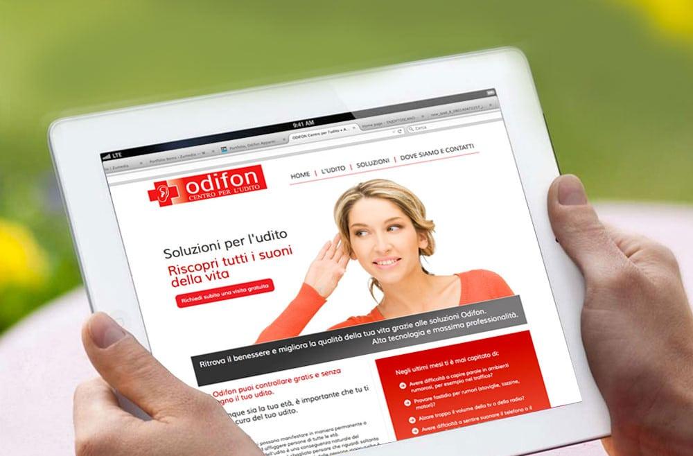 Realizzazione sito web ODIFON APPARECCHI ACUSTICI Arezzo e Valdarno