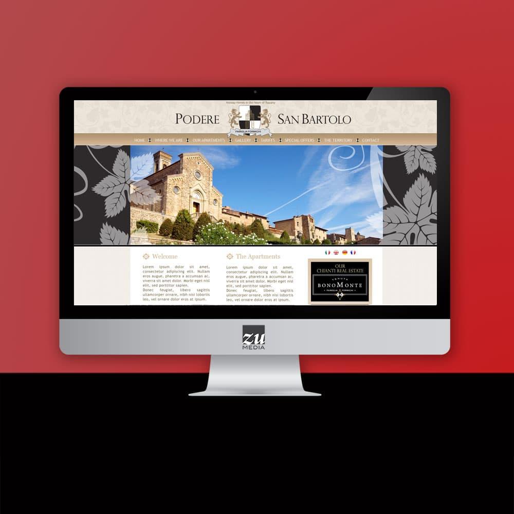 Realizzazione progetto grafico sito web Podere San Bartolo