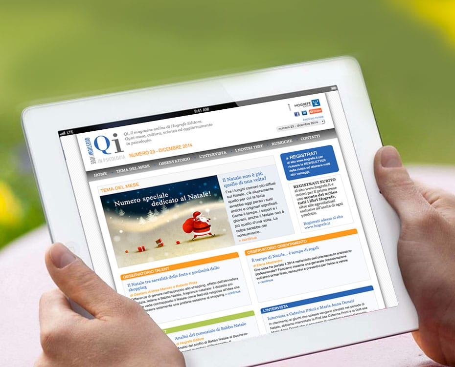 Realizzazione sito web QI • HOGREFE EDITORE