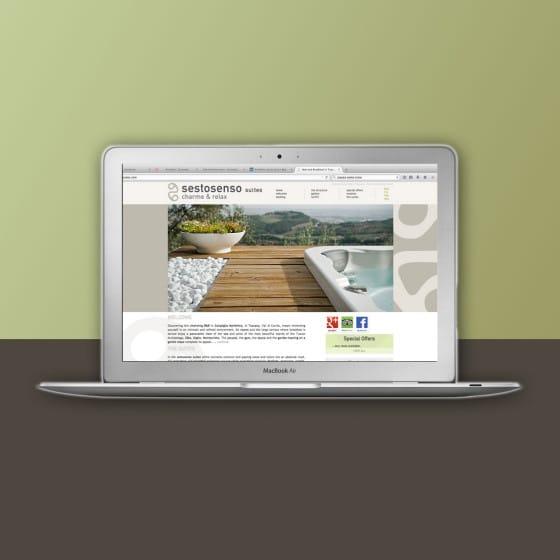 Realizzazione sito web SESTO SENSO SUITES