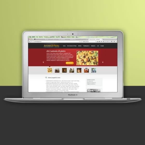 Realizzazione sito web Antonio Di Pietro pedagogista