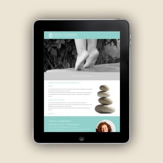 Realizzazione sito web TERESA LOMBARDO Osteopata Firenze