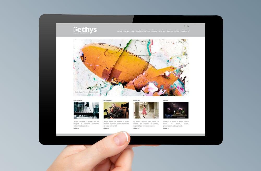 Realizzazione sito web TETHYS GALLERY