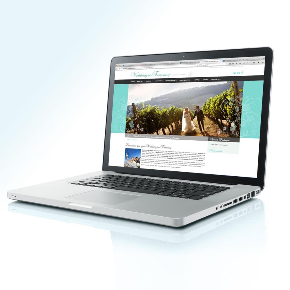 Realizzazione progetto grafico sito web WEDDING IN TUSCANY