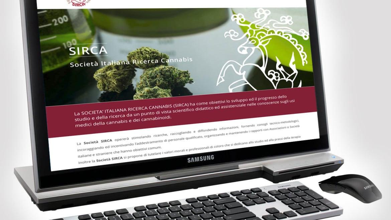 Realizzazione sito web SIRCA · Società Italiana Ricerca Cannabis