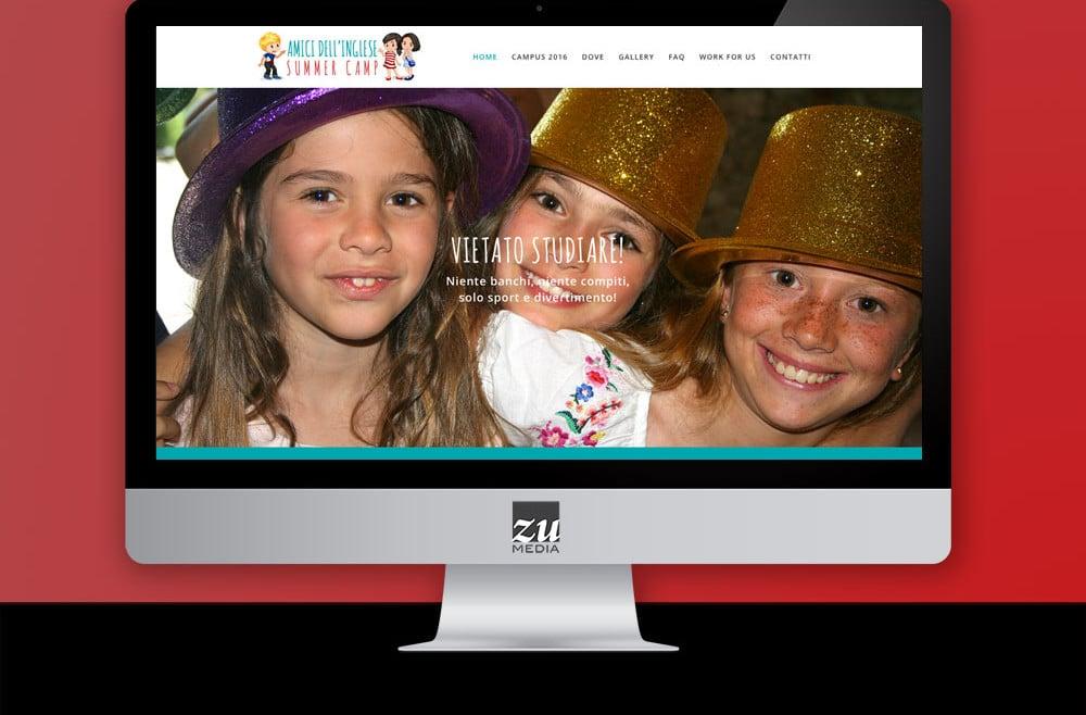 Realizzazione sito web Amici dell'Inglese - English Summer Camp