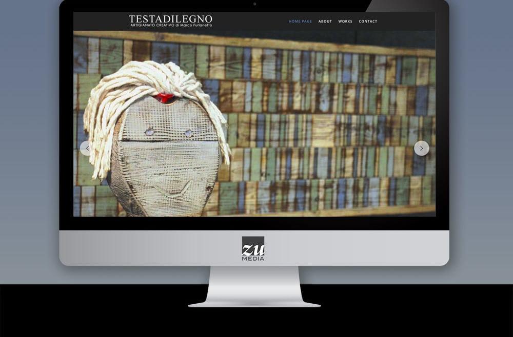 Realizzazione sito web TESTADILEGNO di Marco Furlanetto
