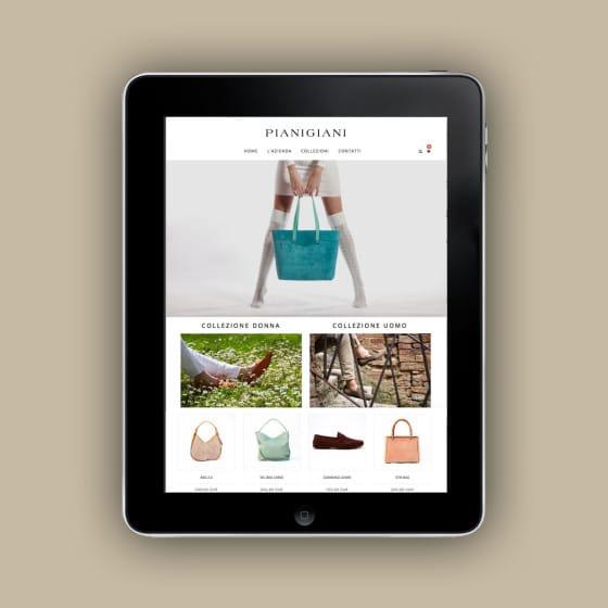 Pianigiani Bags- realizzazione e-commerce