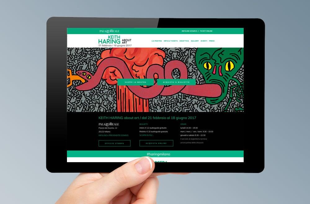 Realizzazione sito web Mostra Keith Haring Milano