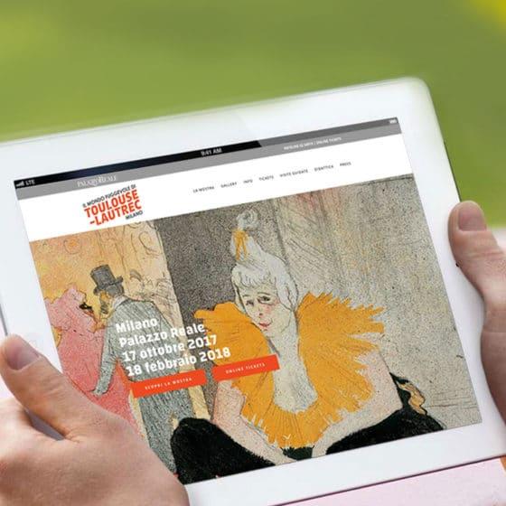 Realizzazione sito web mostra Toulouse-Lautrec Milano