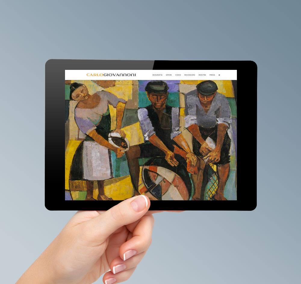 Realizzazione sito web pittore artista firenze