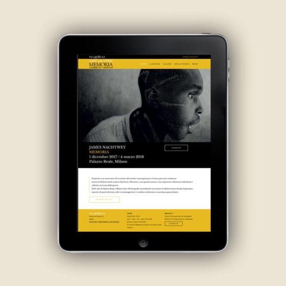 Realizzazione sito web mostra James Nachtwey