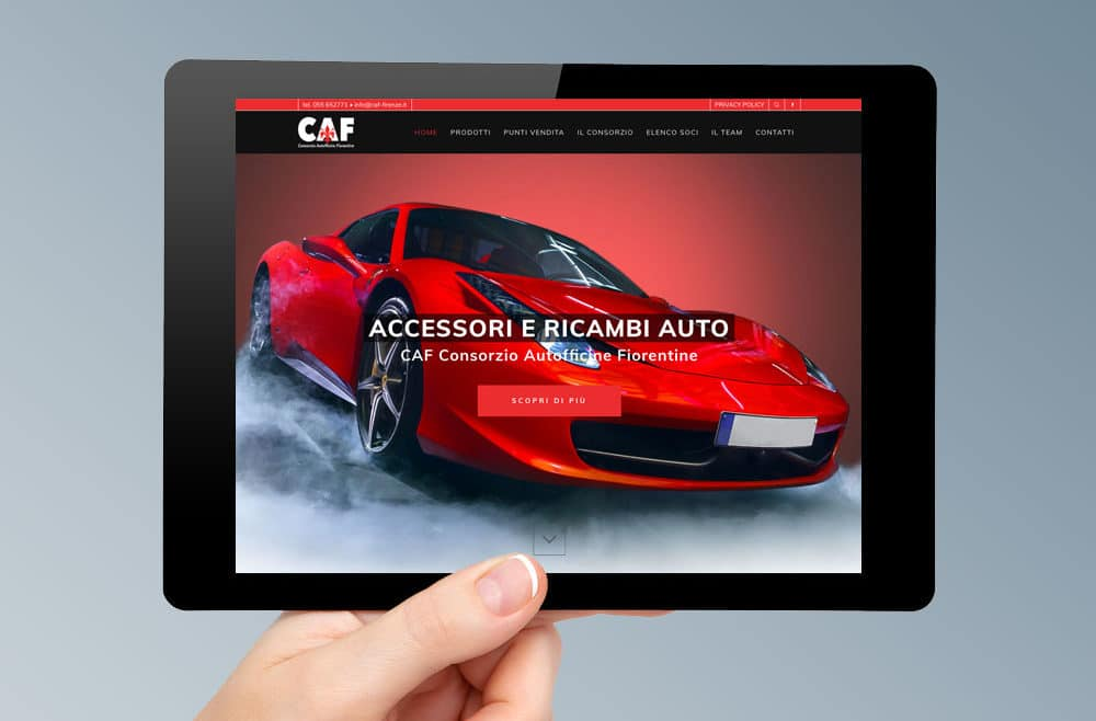 Restyling sito web vendita accessori auto Firenze