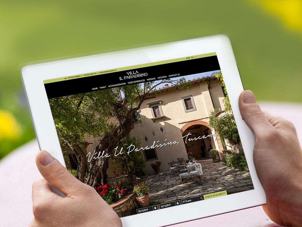 Progetto grafico /UI / UX sito web Firenze
