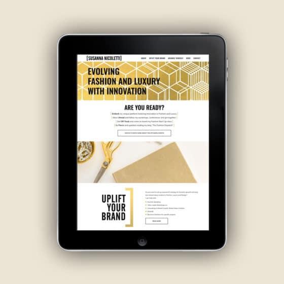 Realizzazione sito web luxury fashion consultant firenze