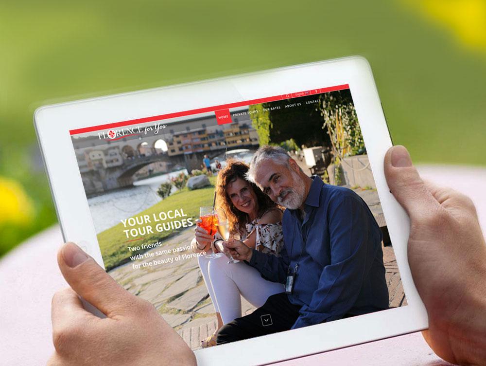 Realizzazione sito web guida turistica firenze