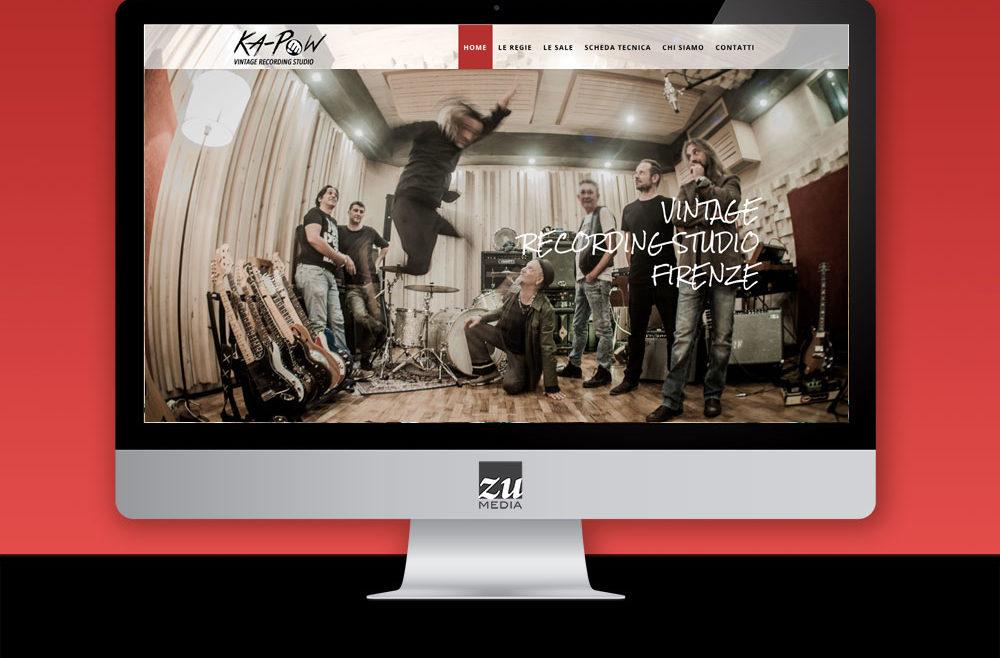 Realizzazione sito web studio di registrazione firenze