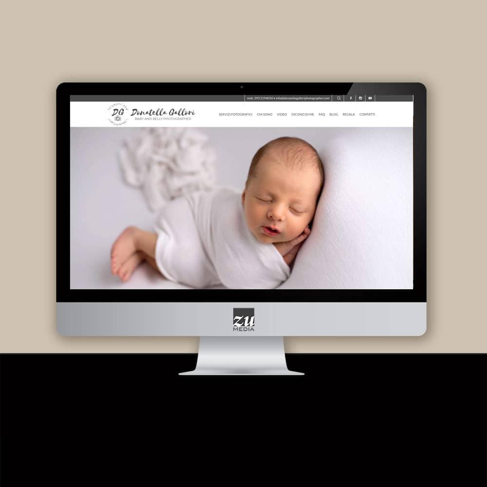 Realizzazione sito web Donatella Gallori Photographer