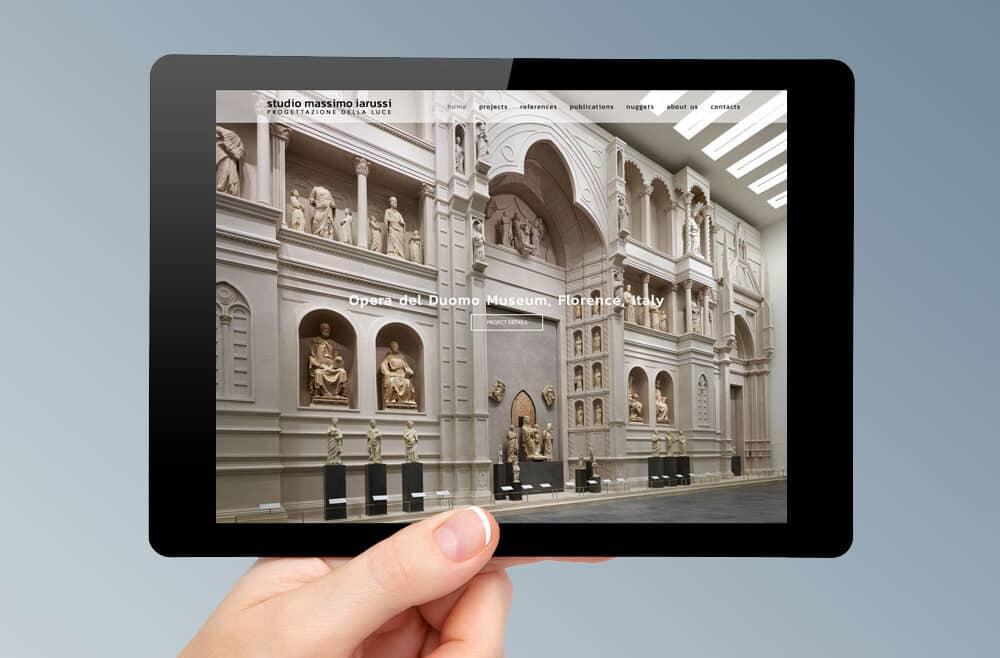 Realizzazione sito web Massimo Iarussi - Lighting design