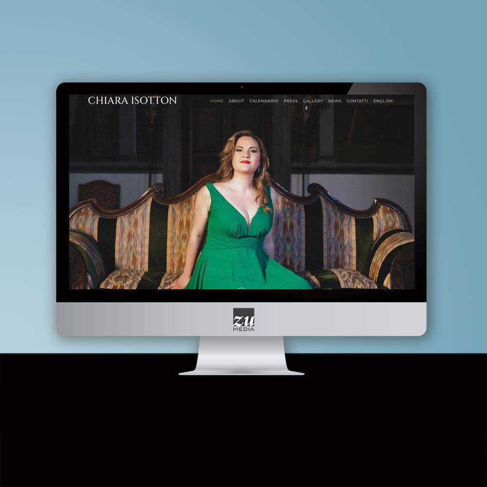 Realizzazione sito web Chiara Isotton